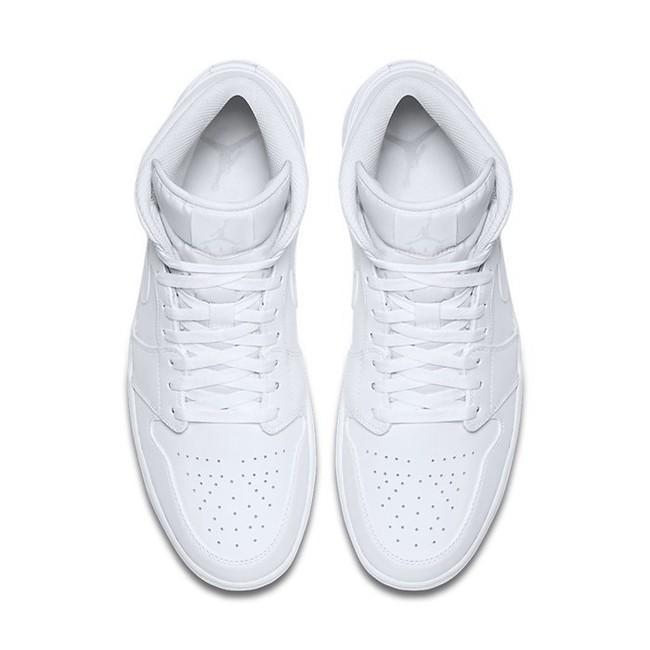 separation shoes 8cb65 07934 ... Air Jordan 1 Mid White White Pure Platinum 554724-104 ...