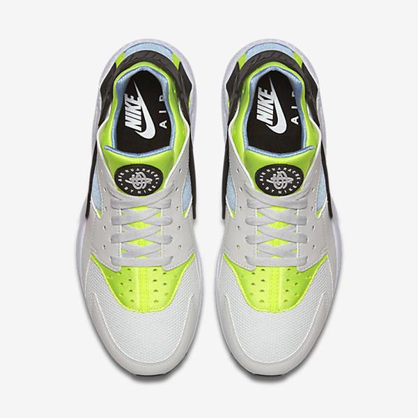 hot sale online 158ed f8cd9 ... Nike Air Huarache Shoe Off White Barely Volt Bluecap 318429-107 ...