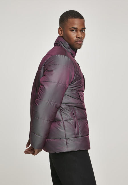 Urban Classics Shimmering Pull Over Puffer Jacket redwine green