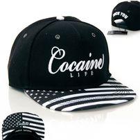 Cocaine Life Stars & Stripes Black White Snapback